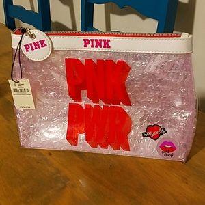 Pink power storage pouch